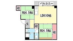 神陵台厚生年金住宅[4-145号室]の間取り