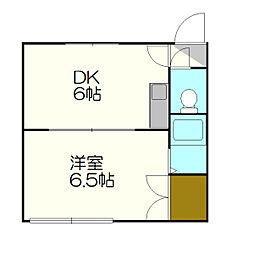 北海道札幌市厚別区厚別中央四条5丁目の賃貸アパートの間取り