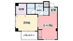 秋桜(コスモス)[302号室]の間取り