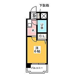ラ・レジダンス・ド・レーヌ[11階]の間取り