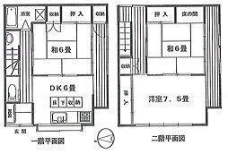 [一戸建] 東京都大田区東蒲田1丁目 の賃貸【/】の間取り