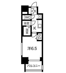 名鉄名古屋本線 山王駅 徒歩9分の賃貸マンション 10階1Kの間取り