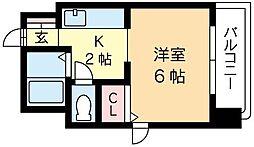 北海道札幌市北区北十三条西1丁目の賃貸マンションの間取り