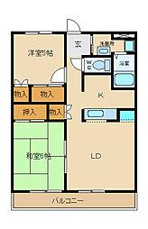 兵庫県姫路市飾磨区加茂東の賃貸アパートの間取り