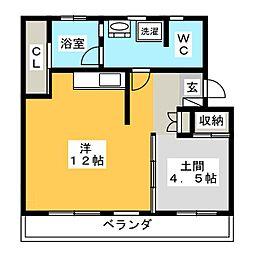 Re・Luffy[4階]の間取り