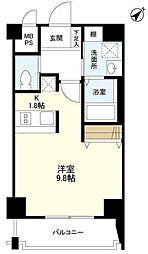 JR山手線 恵比寿駅 徒歩17分の賃貸マンション 3階ワンルームの間取り