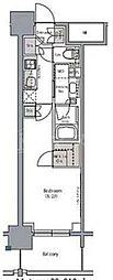 ザ・パークハビオ堂島 10階1Kの間取り