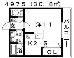 エストレノ[303号室号室]の間取り