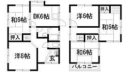 [一戸建] 兵庫県宝塚市雲雀丘2丁目 の賃貸【/】の間取り
