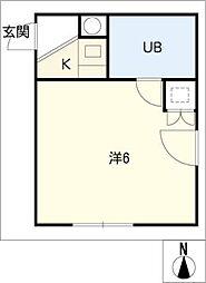 ハートイン杁中[4階]の間取り