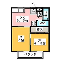 コーポ65[2階]の間取り
