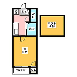 CASA-MOMO[1階]の間取り
