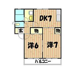 神奈川県横浜市泉区上飯田町の賃貸アパートの間取り