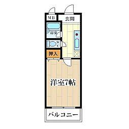 コート姫島[3階]の間取り