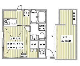 プリマ三軒茶屋壱番館[203号室]の間取り
