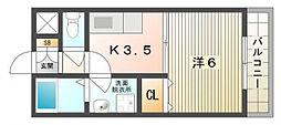 ユーベルI[1階]の間取り
