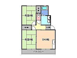 第3ひさごハイツ A棟[2階]の間取り