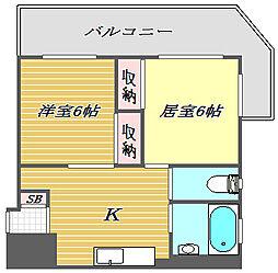 東京都板橋区赤塚2丁目の賃貸マンションの間取り