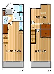 [テラスハウス] 神奈川県横浜市旭区今宿東町 の賃貸【/】の間取り