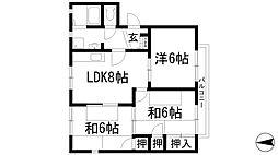 パークハイツA・B棟[1階]の間取り