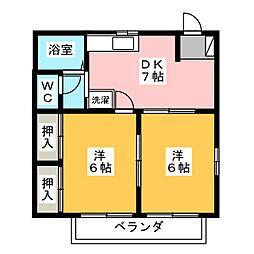 セントオーベル[2階]の間取り