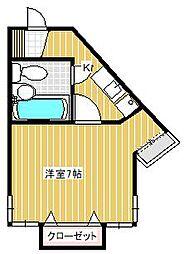 黒沢アパート[201号室]の間取り