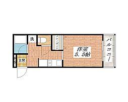 大阪府茨木市永代町の賃貸マンションの間取り