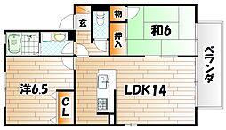 ファミーユ石田 B棟[2階]の間取り