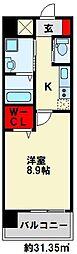 ZEGUNA(ゼグナ) 9階1Kの間取り