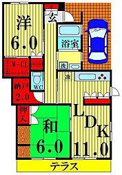 [一戸建] 埼玉県越谷市東越谷9丁目 の賃貸【/】の間取り
