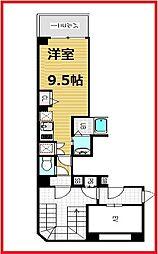 レグルス三ノ輪 2階ワンルームの間取り