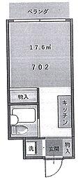 伊勢原六番館[7階]の間取り