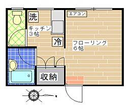 シャイニ桂台[105号室号室]の間取り