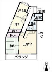 レジデンス赤池[1階]の間取り