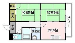 津田野ビル[2階]の間取り