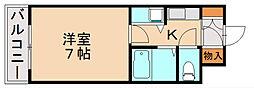 福岡県福岡市南区寺塚2丁目の賃貸マンションの間取り