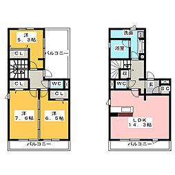 愛知県名古屋市緑区浦里1丁目の賃貸アパートの間取り