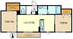 サン ロイヤル 202[2階]の間取り