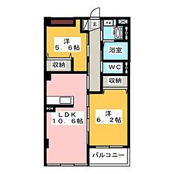 レジアスハイム遼仙III[1階]の間取り