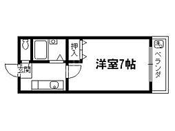 シェモア衣笠[3階]の間取り