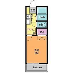 ニュー江戸屋荘[2階]の間取り