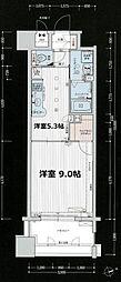 プレサンス新大阪ステーションフロント[4階]の間取り