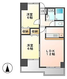 ベルドミール葵22[4階]の間取り