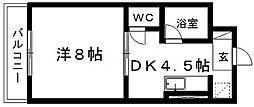 シャトー華美亜[101号室]の間取り