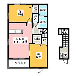 ベルマロン[1階]の間取り