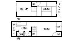 [一戸建] 兵庫県西宮市甲子園口6丁目 の賃貸【/】の間取り