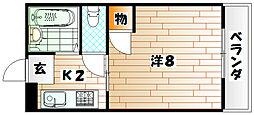 ハイツ大木II[3階]の間取り