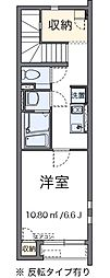 東京都羽村市緑ヶ丘5丁目の賃貸アパートの間取り
