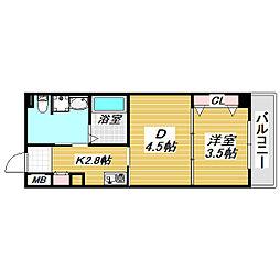(仮称)沢ノ町マンション[2階]の間取り