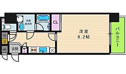 RESIDENCE SHINO 9階1Kの間取り